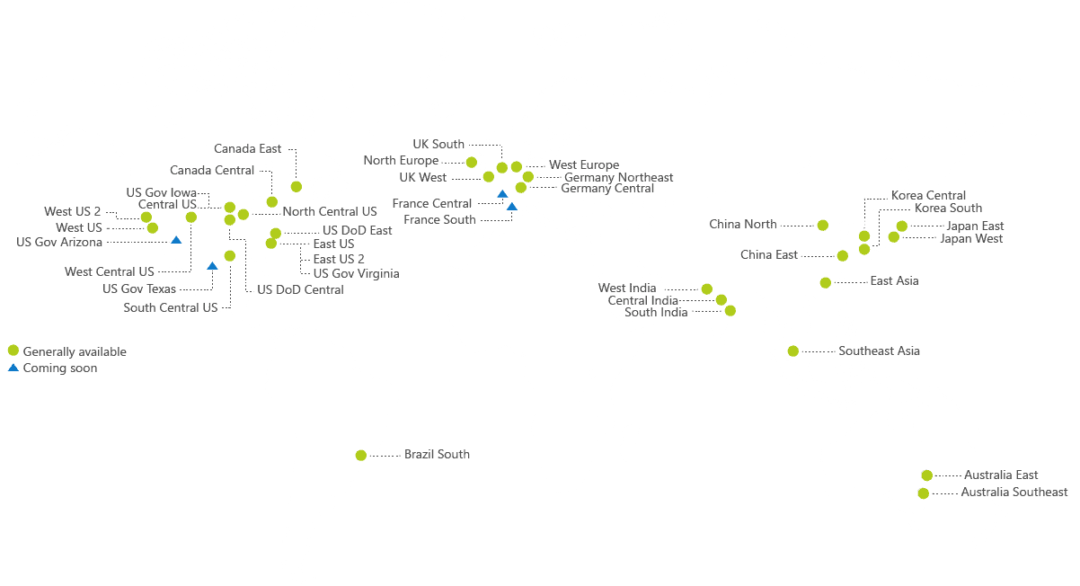Microsoft Azure Region Map