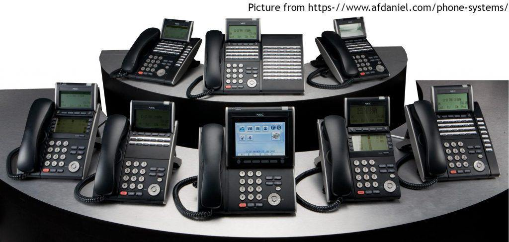 a bunch of physical phone servers